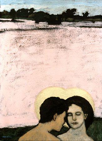 Brian Kershisnik, Adam and Eve, c. 2010.