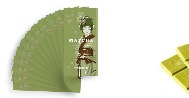 Matcha – den gröna techokladen från Beschle balanserar härligt med sötma, beska och syrlighet. Läs mer på: http://beriksson.net/vara-varumarken/beschle #dengrönachokladen #matcha #Beschle #choklad #gourmet