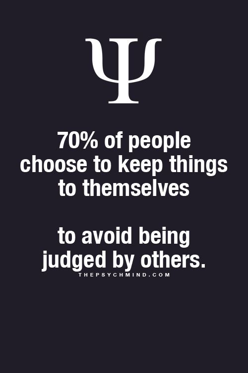 I personally could care less if people judge me - it ain't like they are perfect....