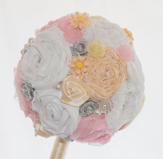 Custom Made Fabric and Bead Bouquet  Full Price by TheLoveBucketSA, $120.00