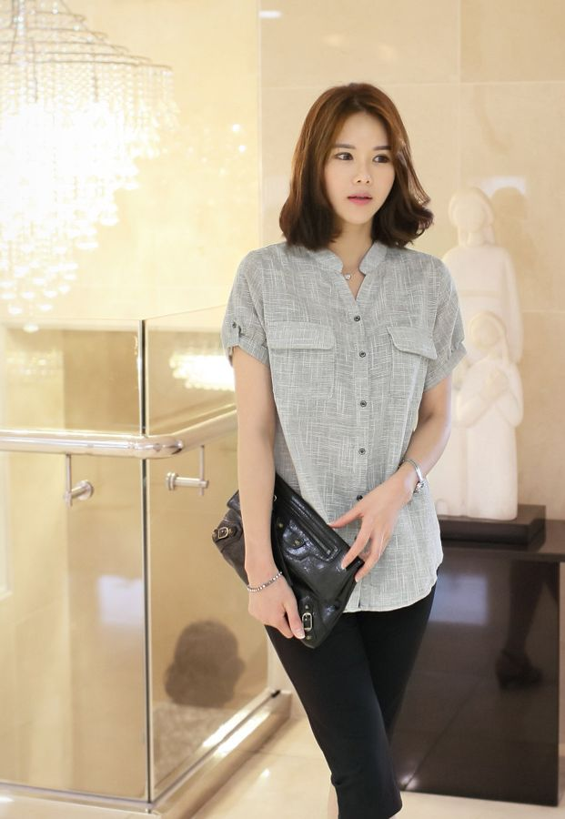 Republic of Korea reigning Women's Clothing Store [CANMART]  #koreafashionshop #fashion_pinter #pinterclothes #pintershop #womenfashion #goodquality #goodfabric #korea #dailylook #dailyfashion #CANMART #OOTD #madam #mam    #top #blouse #shirt #pattern #chic #pocket #linen  Neat and stylish feel of linen with cotton mouth seemed tastefully equipped!  Cozy pocket blouse / Size : FREE / Price : 33.12 USD