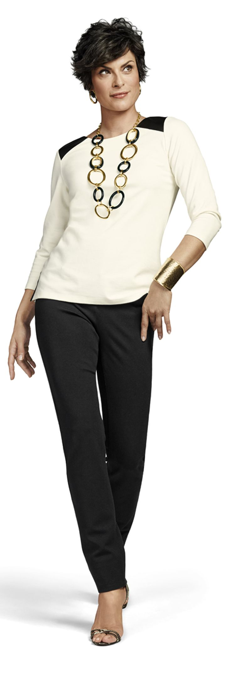 The So Slimming Peyton. Five-pocket ponte knit pant with Hidden-Fit technology and a slim leg.