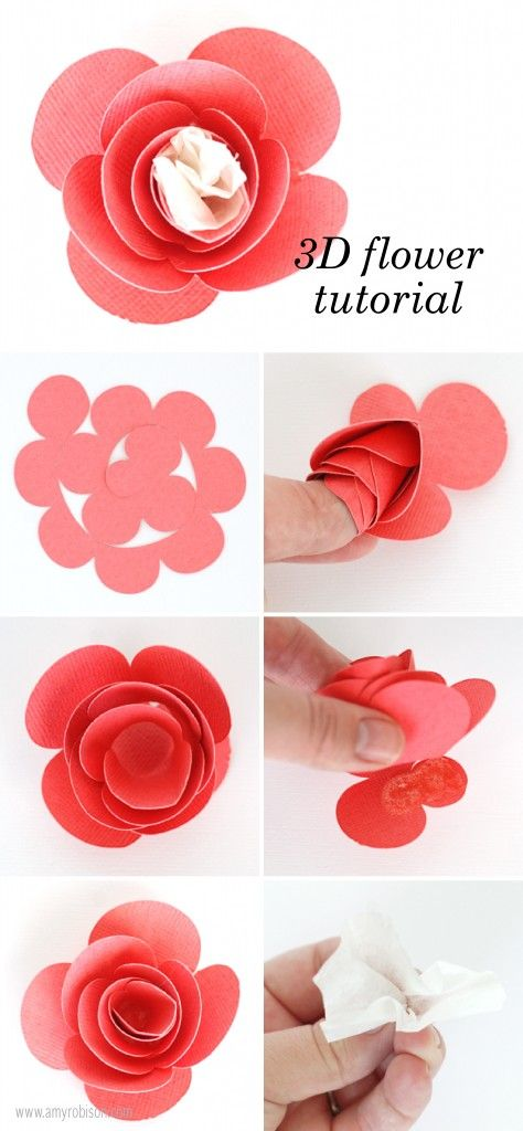 3D Rose tutorial for party favors at a Tea Party. This collection works well for bridal and baby showers, birthday parties, bedroom decor, paper crafting and more. www.amyrobison.co... #teaparty #Silhouettecameo