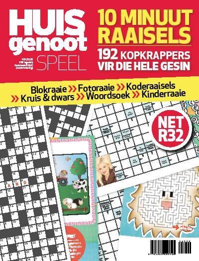 Huisgenoot Speel - 10 Minuut Raaisels. Puzzles. Games. Afrikaans.