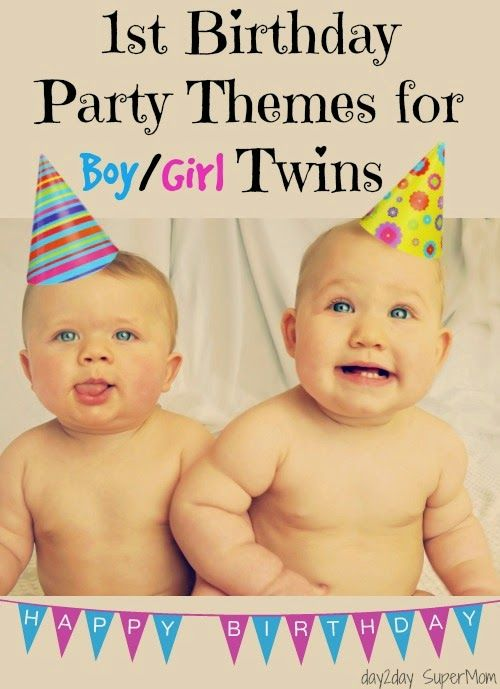 48 best Twins 1st birthday images on Pinterest Parties kids