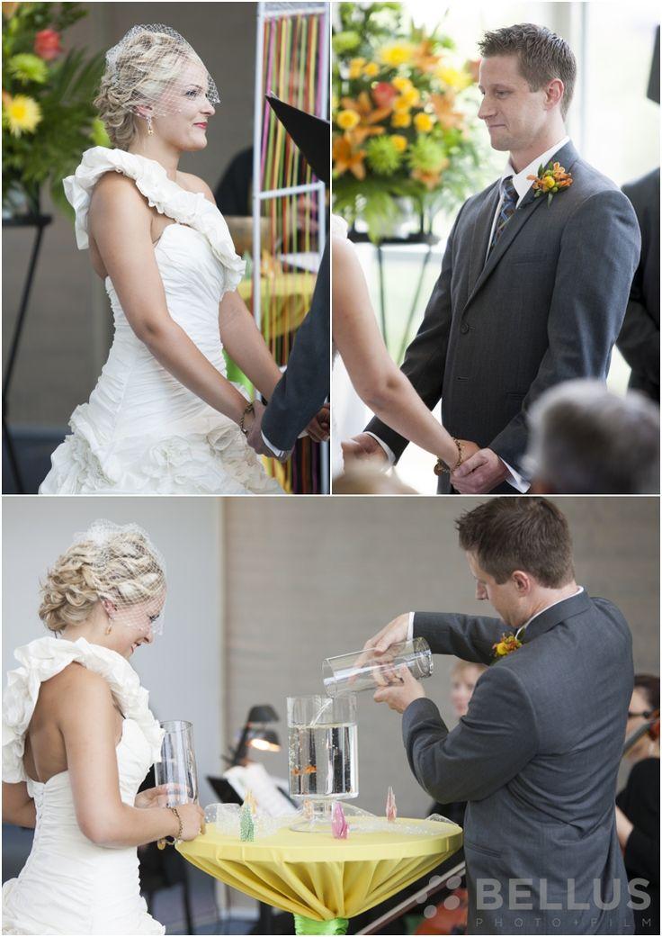 Unity Candle Alternative At Wedding Ceremony