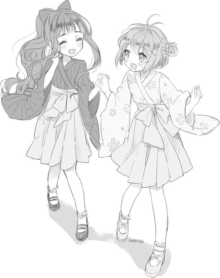 Sakura and Tomoyo - Cardcaptor Sakura