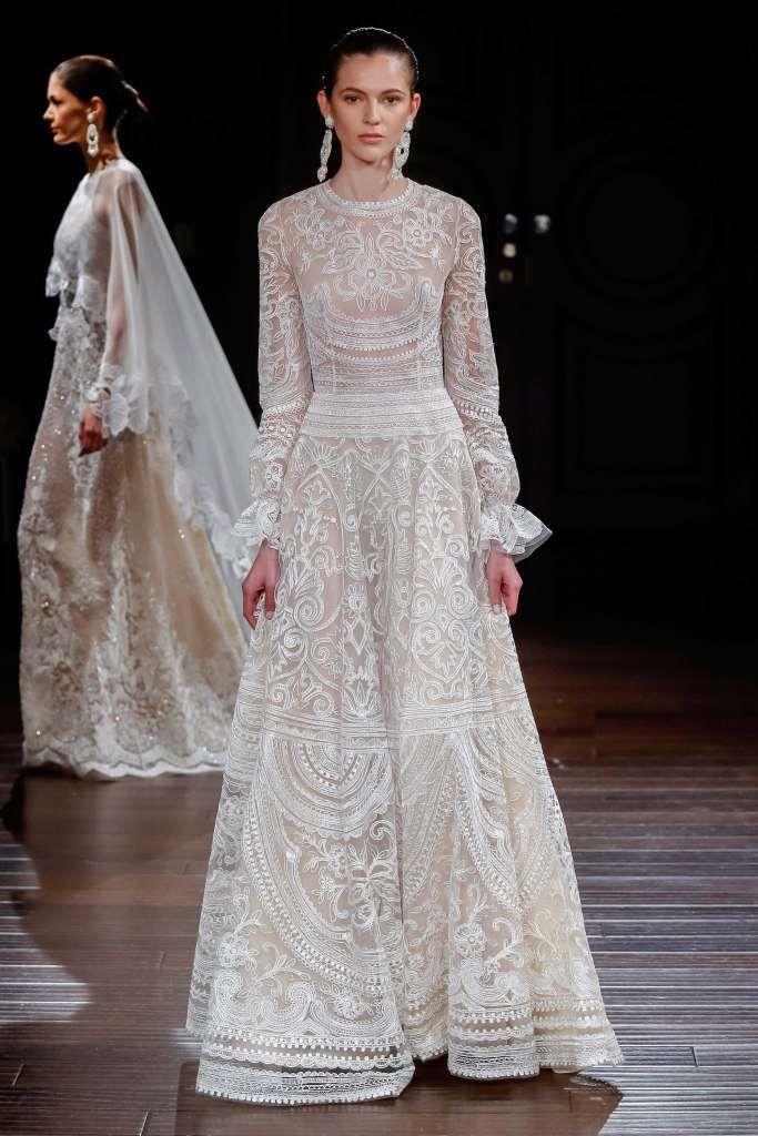 Abiti da sposa Naeem Khan 2017 - Vestito stile retrò Naeem Khan