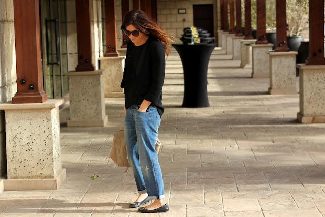 boyfriend jeans + celine bag