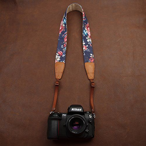 BESTTRENDY Camera Strap Nikon Canon DSLR Camera Neck Strap for Men and Women Color Blue