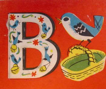 B is for Bird - Use vintage book pictures for framing & hanging