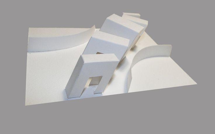 объёмно-пространственная композиция(бумага,клей)