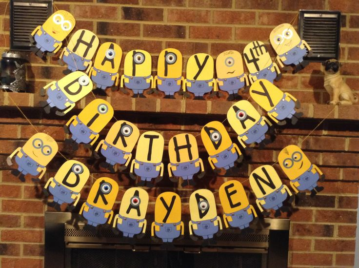 Minion birthday party banner | DIY Projects for Grandkids ...
