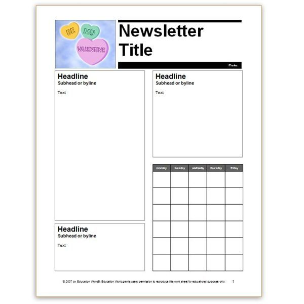 10 best Newsletters images on Pinterest Newsletter ideas, School - free newsletter templates for microsoft word 2007