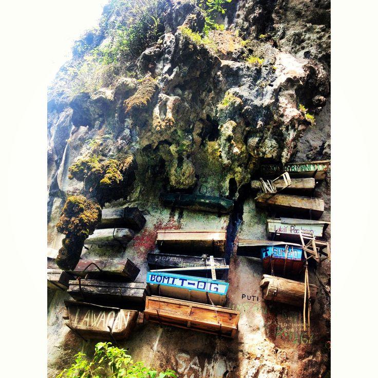 Hanging Coffins at Sagada, Philippines.