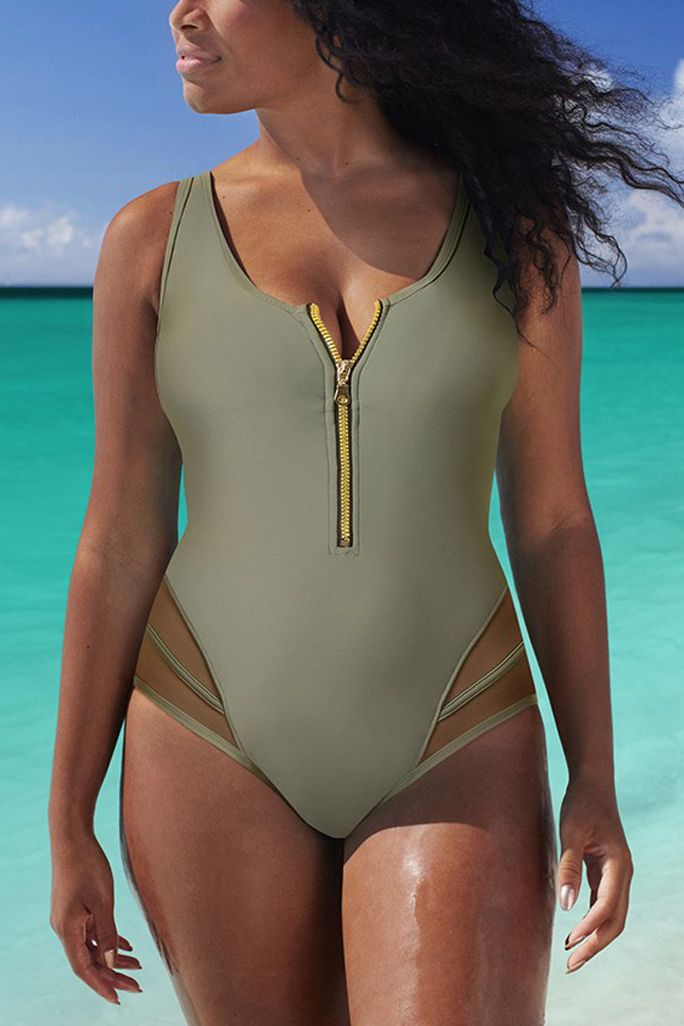 The 21 Best Plus-Size Swimsuits to Wear This Summer - Best Active by GabiFresh for Swim Sexy from InStyle.com