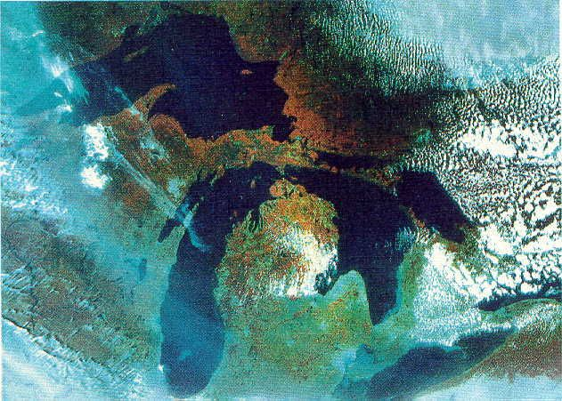 Michigan as seen from space