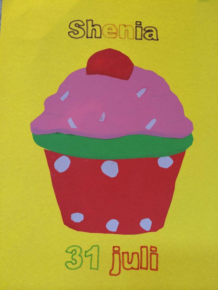 verjaardagskalender maken cupcakes