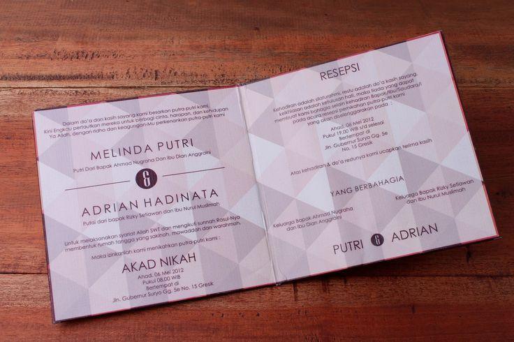 kartu undangan pernikahan bukan hardcover