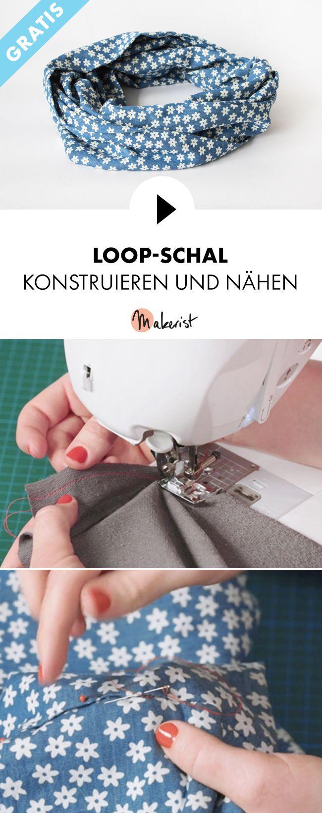Gratis Video-Kurs: Loop-Schal selber nähen lernen - Schritt für Schritt erklärt im Video-Kurs via Makerist.de