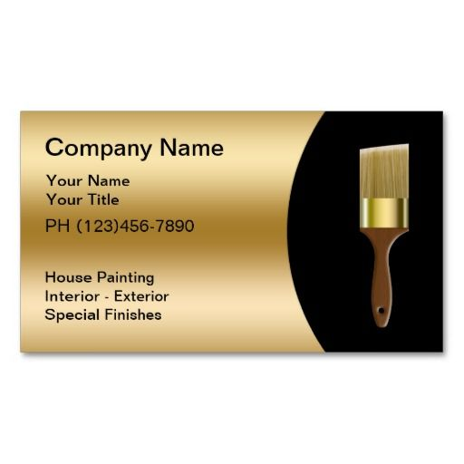 Painter Business Card Template 198 Best Images About Cards On