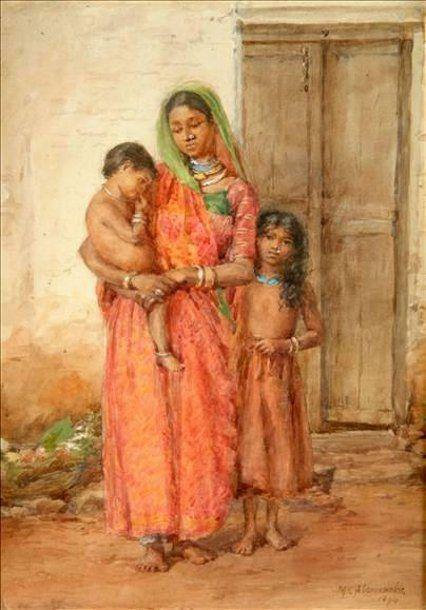 Индийские Семейные Группы M. C. Abercrombie (XIX век, английский)
