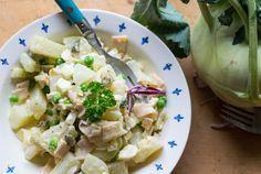 Super leckerer falscher Low Carb Kartoffelsalat - schmeckt dem Original täuschend ähnlich und hat kaum Kohlenhydrate, einfach lecker!