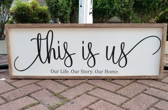 This Is Us 12x36 Our Life Our Story Our Home This Is Us Etsy This Is Us Last Name Wooden Signs Signs