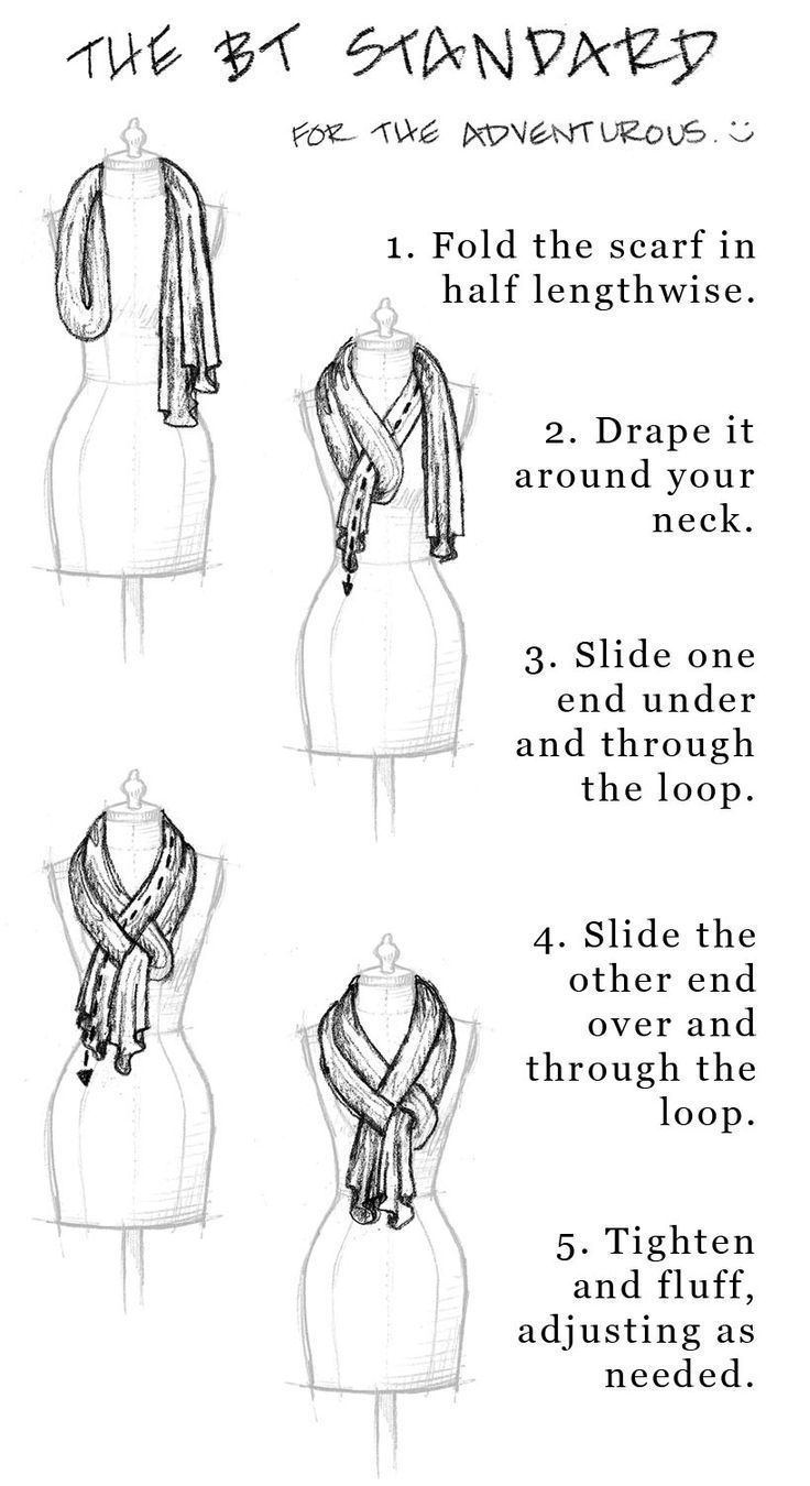 I would like to wear scarves, but can never figure out how to tie them so they look good @katerinamaslaro