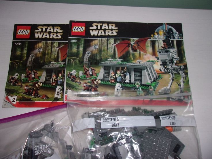 Lego 8038 Star Wars The Battle of Endor Used Loose With Manuals No figures #Lego