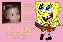 Girl Spongebob Sponge Bob Birthday Party Invitations x2   eBay