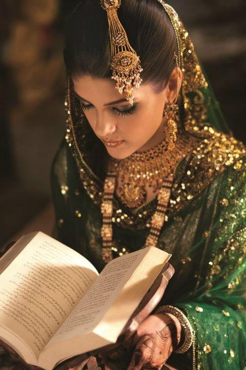 green for nikkah - pakistani wedding