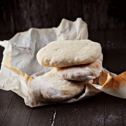 Pan de pita hecho en casa