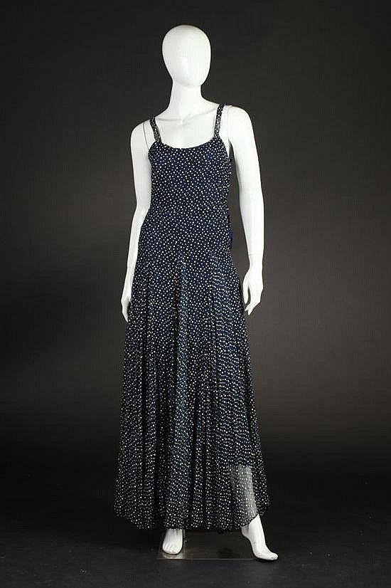 Bonwit teller navy party dress 1940s 1950s