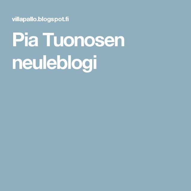Pia Tuonosen neuleblogi