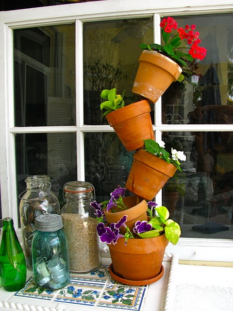 Best 25 Stacked Flower Pots Ideas On Pinterest Stacked