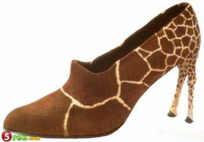 zapatos raros y extravagantes, zapatos jirafa