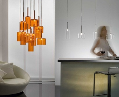 Clean and simple.  Spillray Collection by Axo Lighting #interiordesign: Pendants Lamps, Axo Lights, Lamps Design, Decor Ideas, Lights Fixtures, Trav'Lin Lights, Pendants Lights, Wine Glasses, Interiors Lights