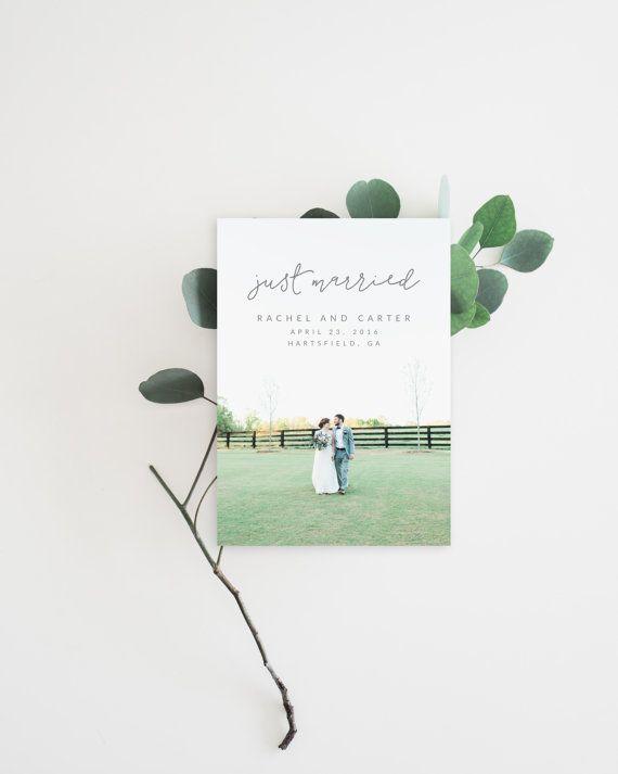 Druckbare Hochzeit Ankündigung - Entführung Ankündigung Card - Ehe Ankündigung Karte - Hochzeit Foto-Vorlage (WA-003)