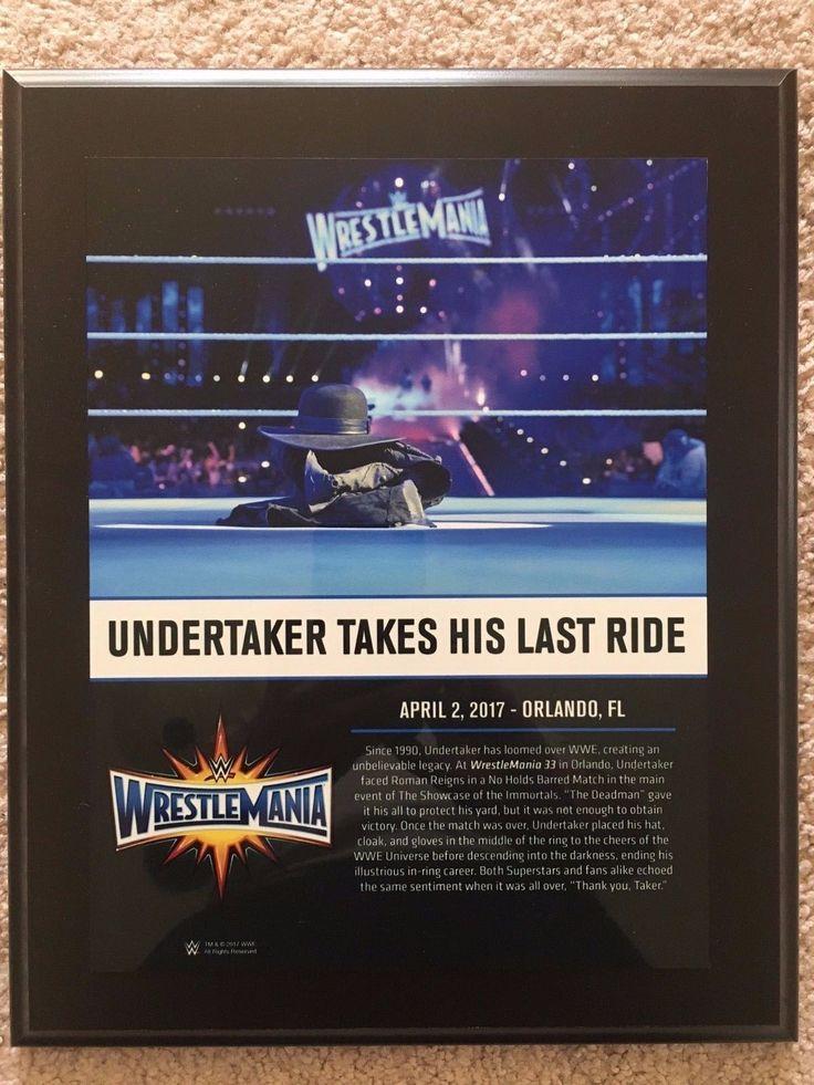 Wrestling 2902: Wwe Wrestlemania 33 Undertaker 10 X 13 Commemorative Photo Plaque Brand New! -> BUY IT NOW ONLY: $79.99 on eBay!