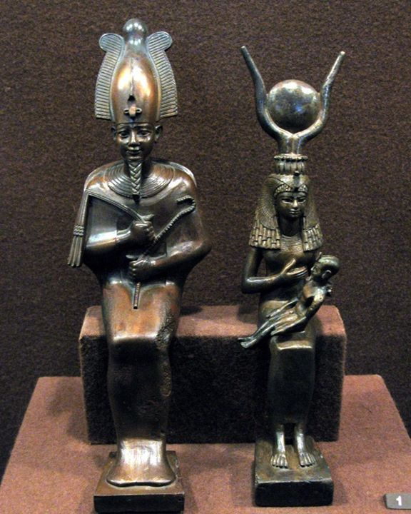 Осирис и Исида с Гором, XXV-XXVI династии, VII-VI вв. до н.э., Эрмитаж, Санкт-Петербург