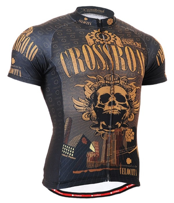cyclist jersey bike clothes top bicycle skull shirt for men s xl
