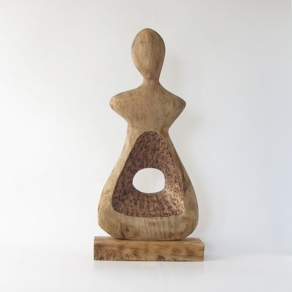 Wood sculpturemodern peephole designabstractladysculpture