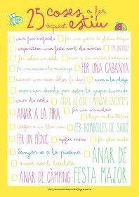 25-coses-a-fer-aquest-estiu - Recursos educatius i activitats per a infants, en català - Com aprendre a aprendre