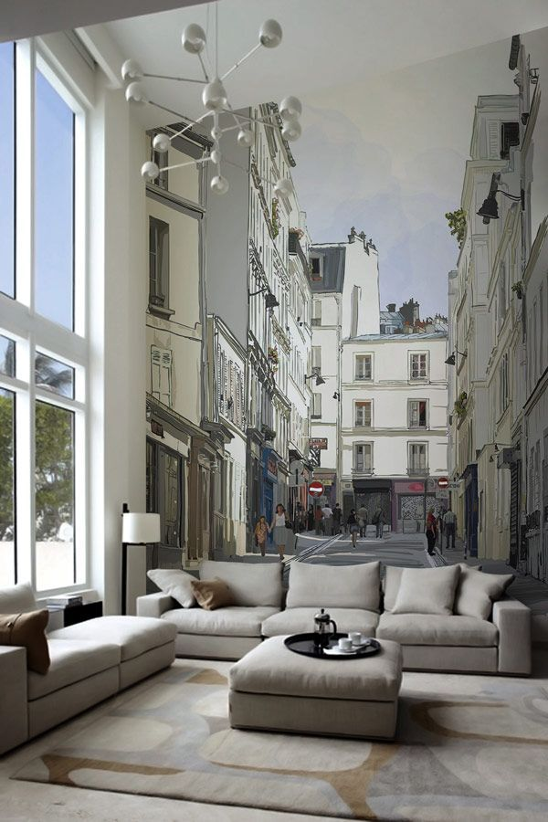 Avenue wall sticker Adding Personality to Modern Interiors: City Never Sleeps Wall Murals by Pixers