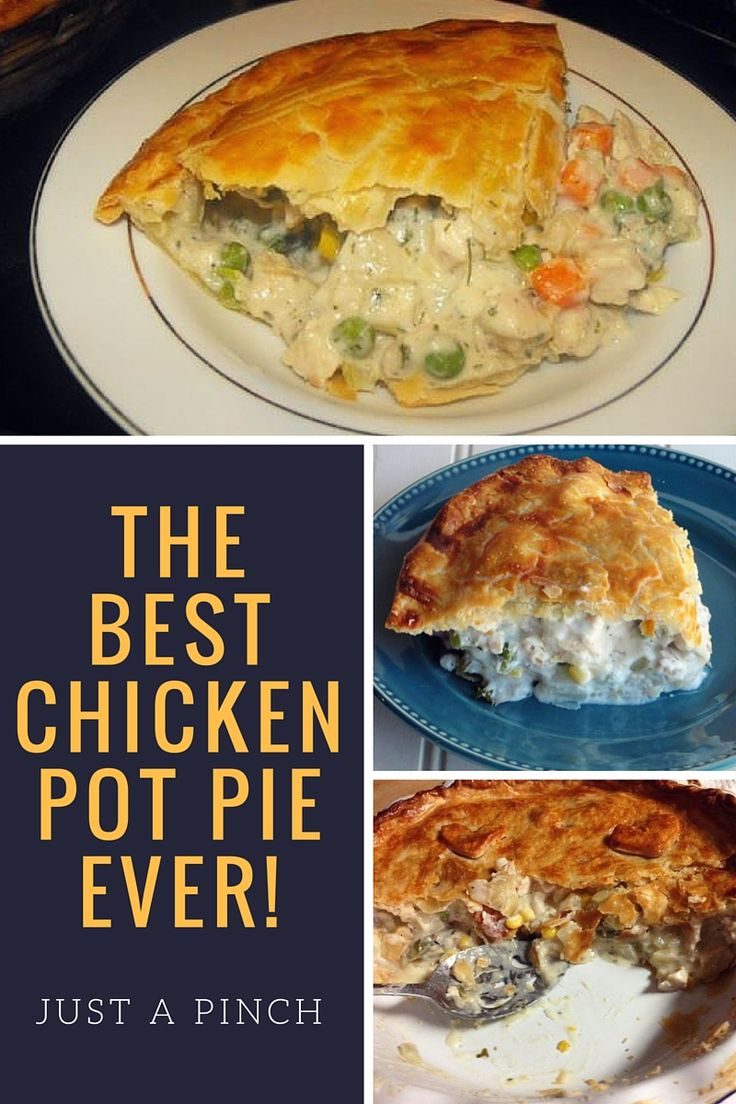 I have been using this recipe for years. It is my go to when Chicken Pie is on the menu. There are only two of us in my family now and we eat leftovers. This is just as good warmed over, maybe better!