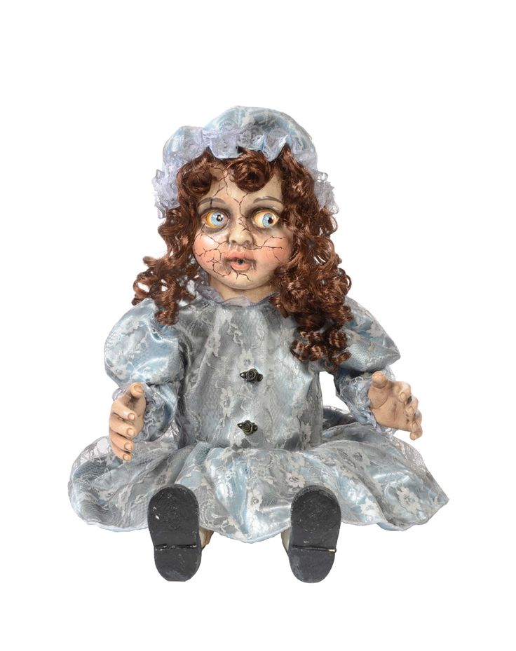 decrepitrudy animated doll exclusively at spirit halloween add some creepy decor to your home on