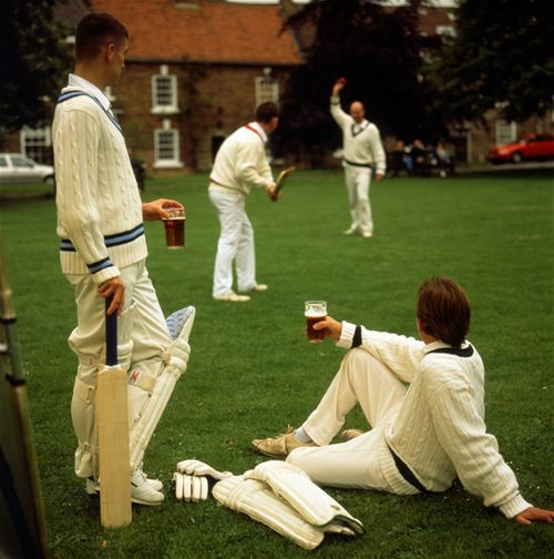 Cricket and a pint of real ale on the village green.