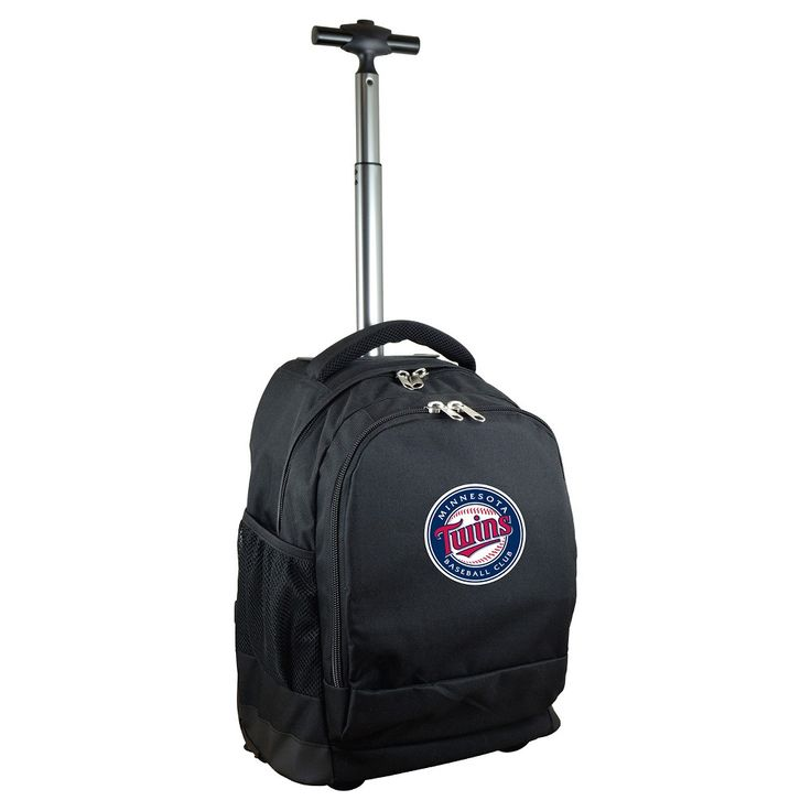 MLB Minnesota Twins Premium Wheeled Backpack - Black
