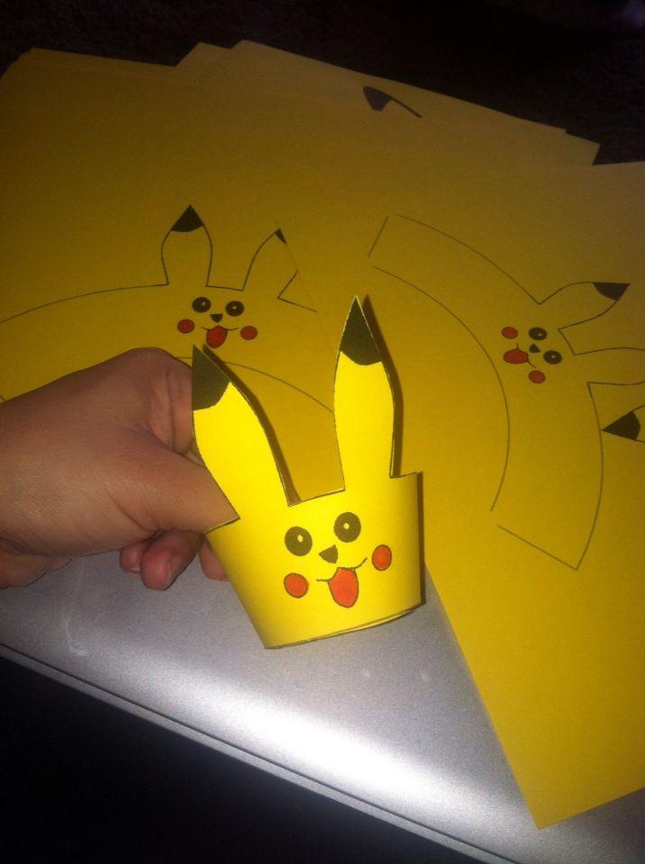 DIY Pokemon cupcake wrappers .